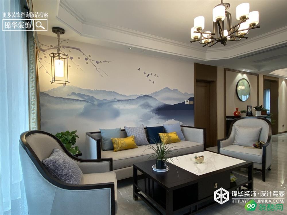 盐城135平米现代风格三室两厅装修案例效果图片