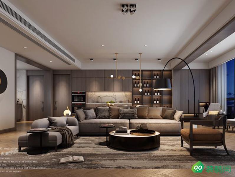 万达旅游城160平现代四居室装修案例
