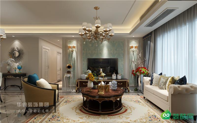 宝能城三室两厅104㎡简欧风格装修案例