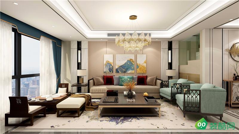 兴义三居室新中式风格装修案例