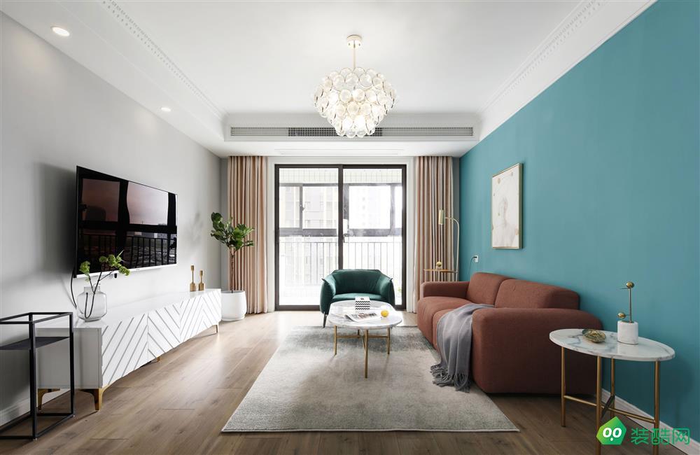 鹽城103平米現代簡約風格三室兩廳裝修案例效果圖片-名匠裝飾