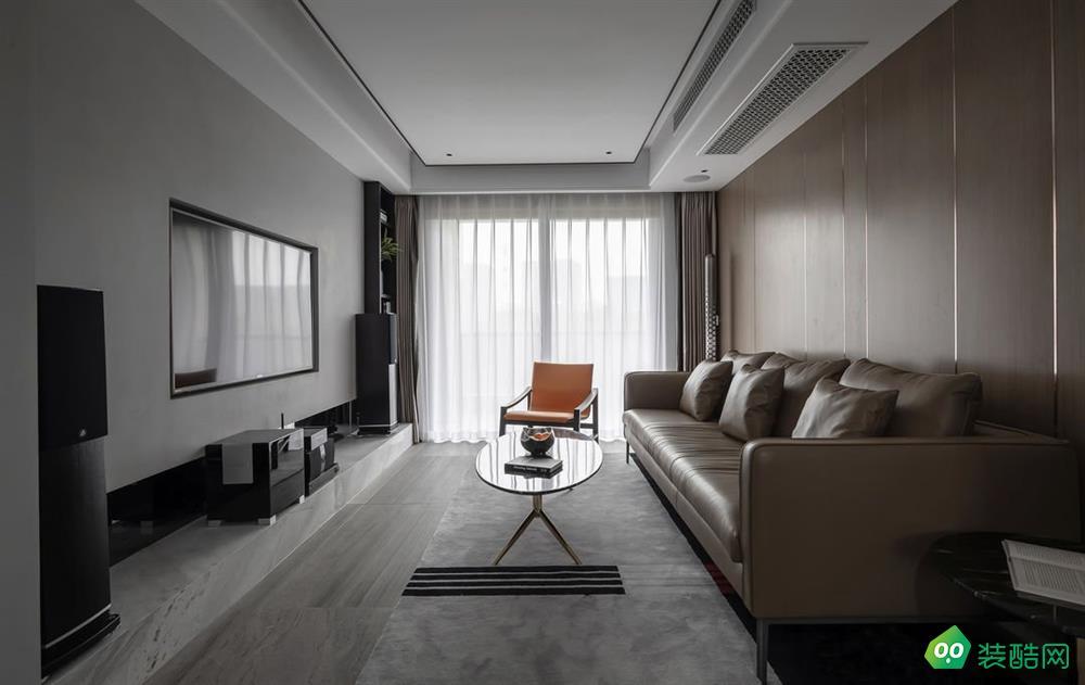 盐城117平米现代风格三室两厅装修案例效果图片-名匠装饰