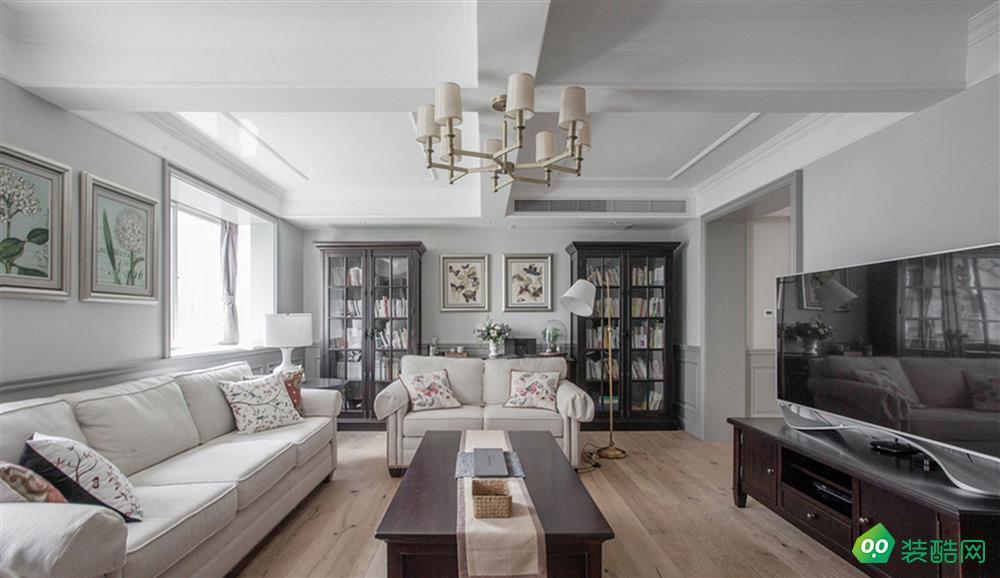 132㎡三室两厅现代美式新居案例