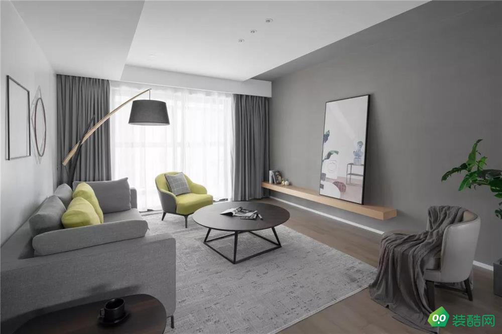 盐城142平米北欧风格三室两厅装修案例效果图片-名匠装饰