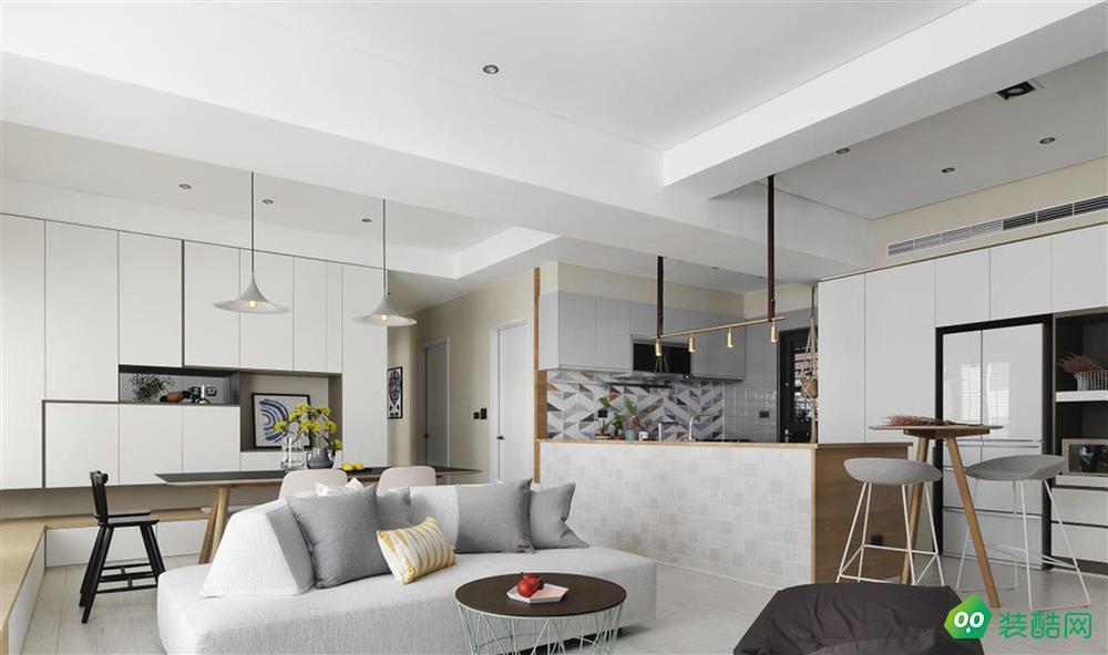 98㎡二手房三室两厅现代简约风格案例