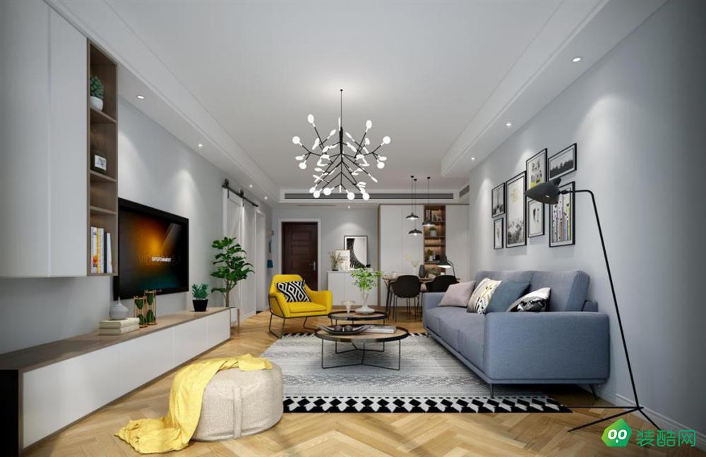 100平米三居室北歐風裝修案例