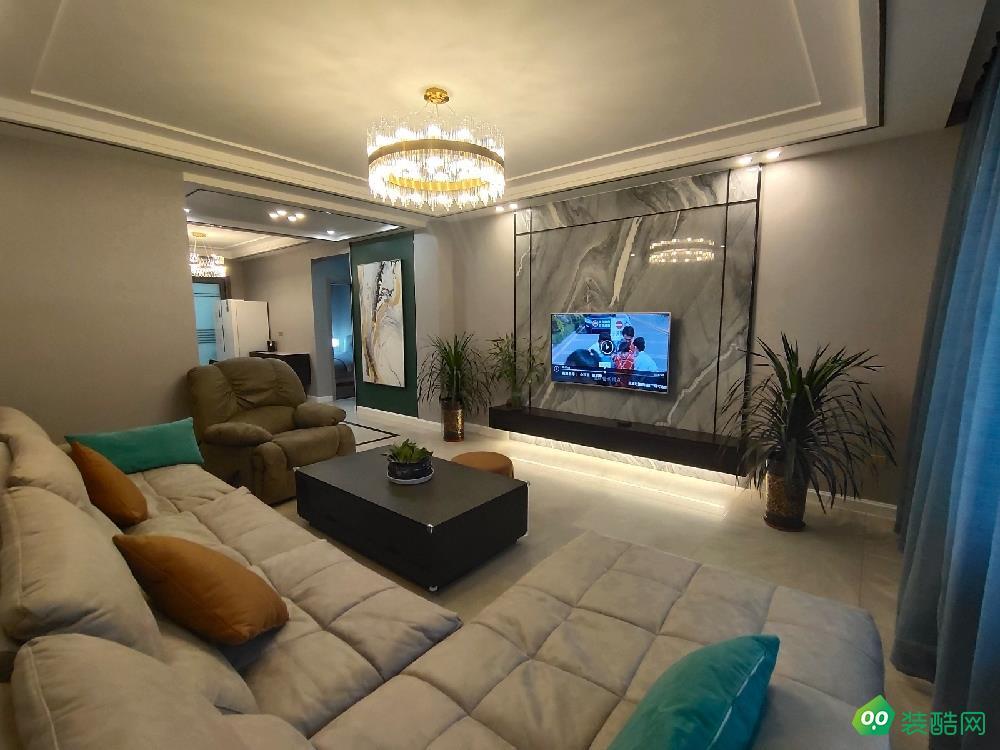 克拉瑪依130平米現代風格三居室裝修案例效果圖片