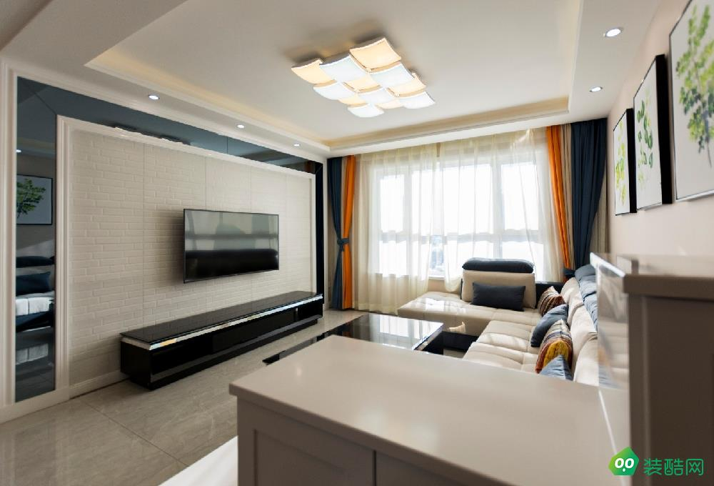 克拉玛依106平米现代简约风格三室两厅装修案例效果图片