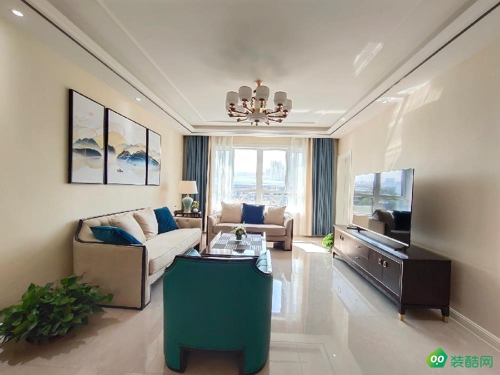 克拉玛依115平米现代风格三室两厅装修案例效果图片