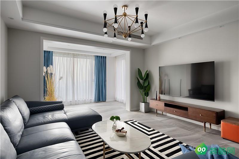 克拉玛依125平米现代风格三室两厅装修案例效果图片