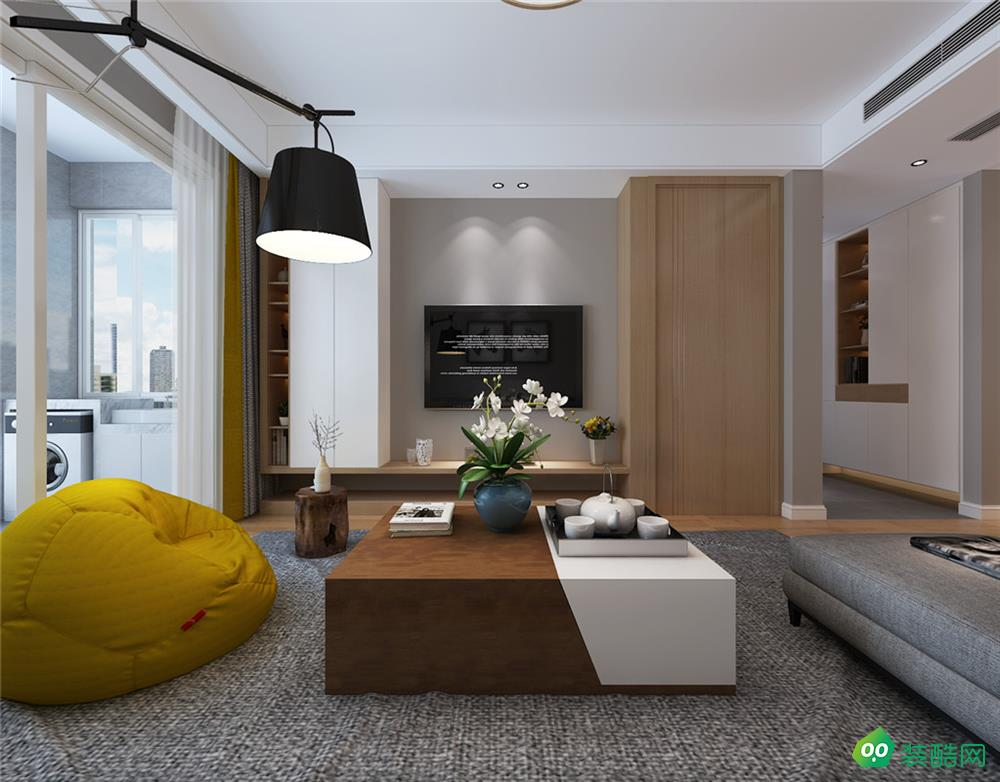 华润桃园里、现代、125平米、三室两厅装修效果图
