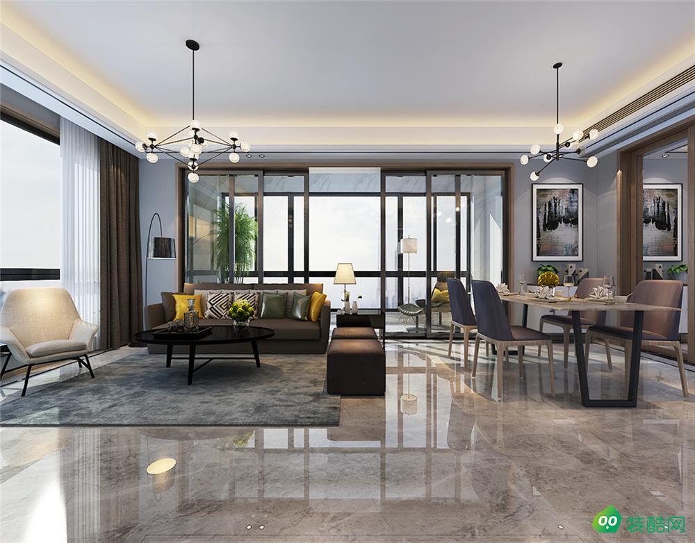 玫瑰园、现代、160平米、三室两厅装修效果图