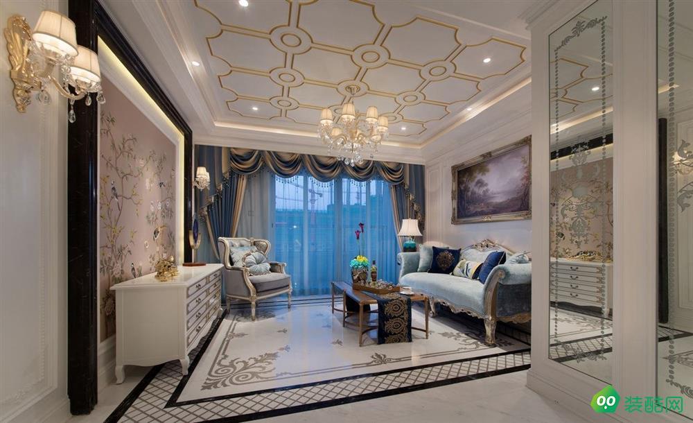 歐式三室一廳95平米裝修效果圖