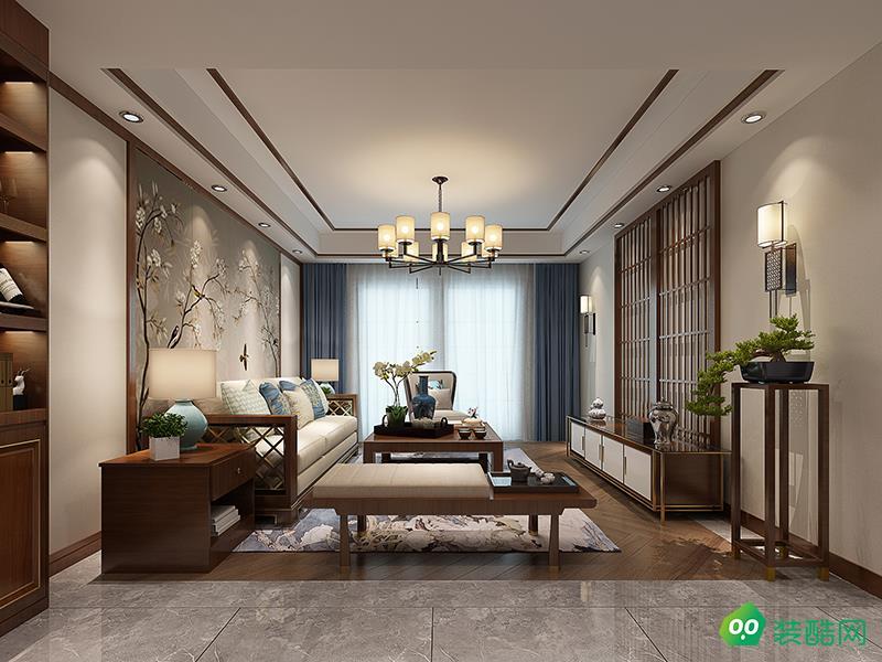 120平米三室两厅中式风格装修效果图