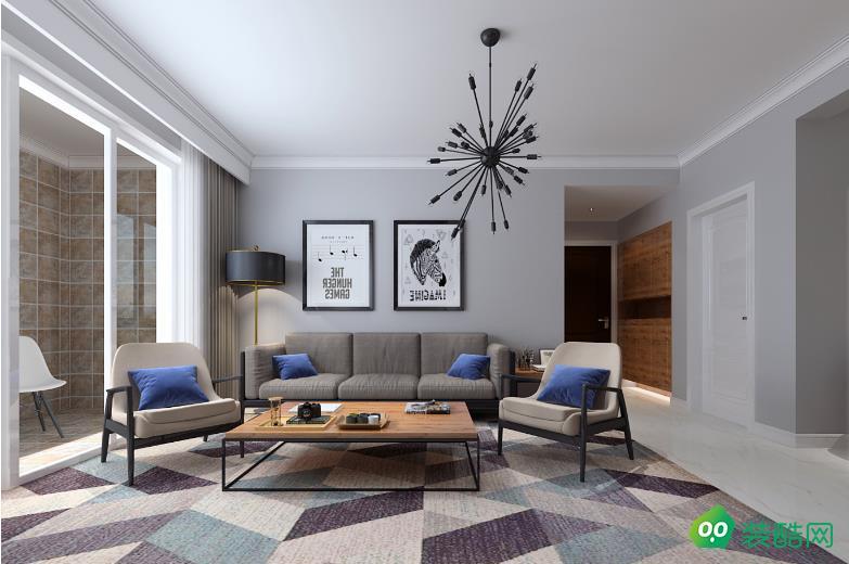 銅梁110平米三室北歐風格裝修效果圖-海茂裝飾