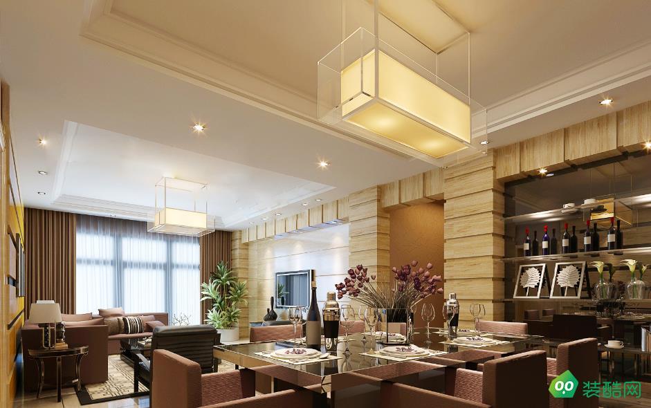 铜梁120平米三室中式风格装修效果图-海茂装饰