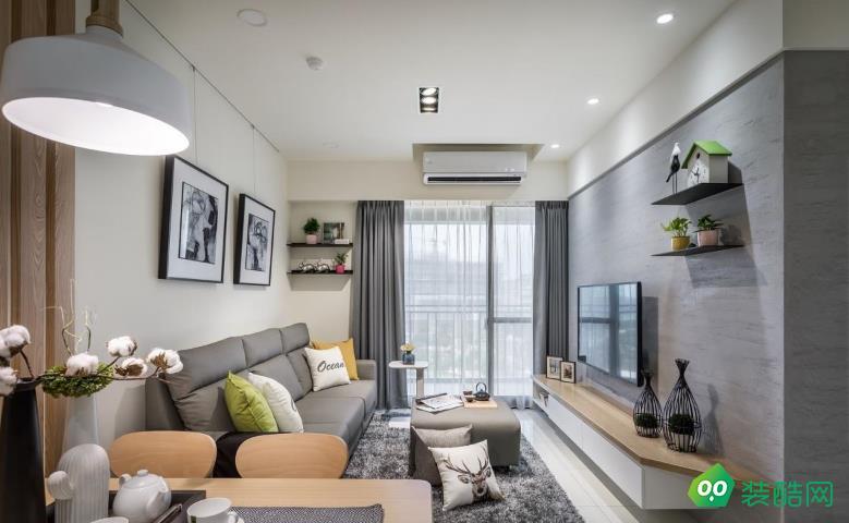 銅梁100平米三室北歐風格裝修效果圖-海茂裝飾