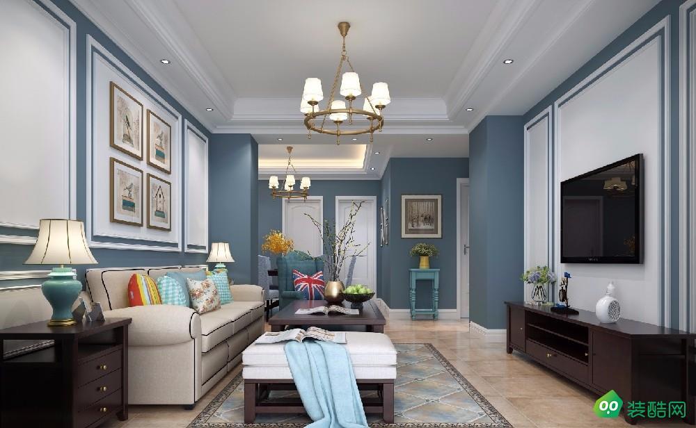 大连74平米混搭风格小三室装修案例效果图片