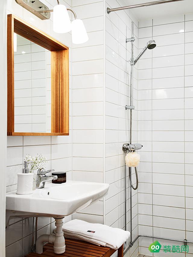 咸陽騰坤九鼎裝飾-75平米北歐風格兩室兩廳一衛裝修效果圖