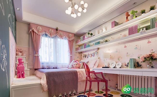 咸阳腾坤九鼎装饰-130平米简约风格四室两厅装修效果图