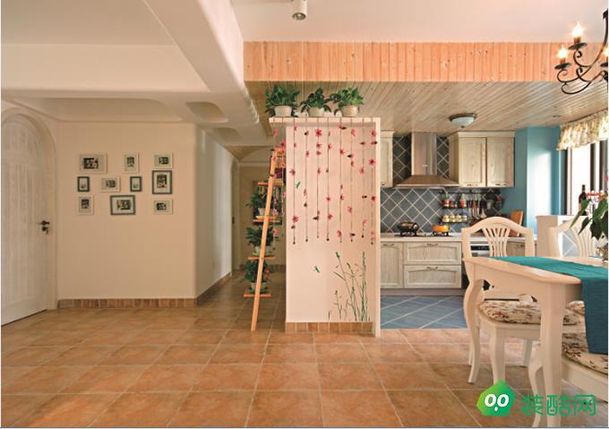 咸阳家装e站-115平米田园风格三室两厅装修效果图