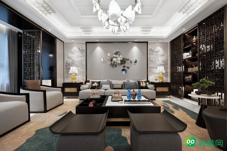萬州132㎡四室新中式風格裝修效果圖-源之夢裝飾