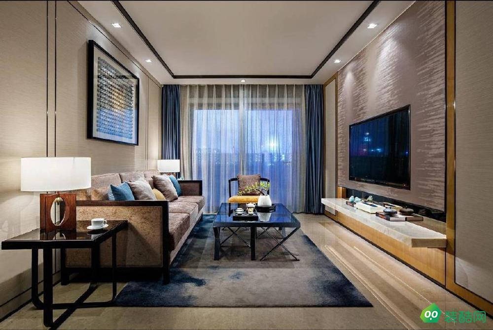 中式風格三居室95平裝修效果圖
