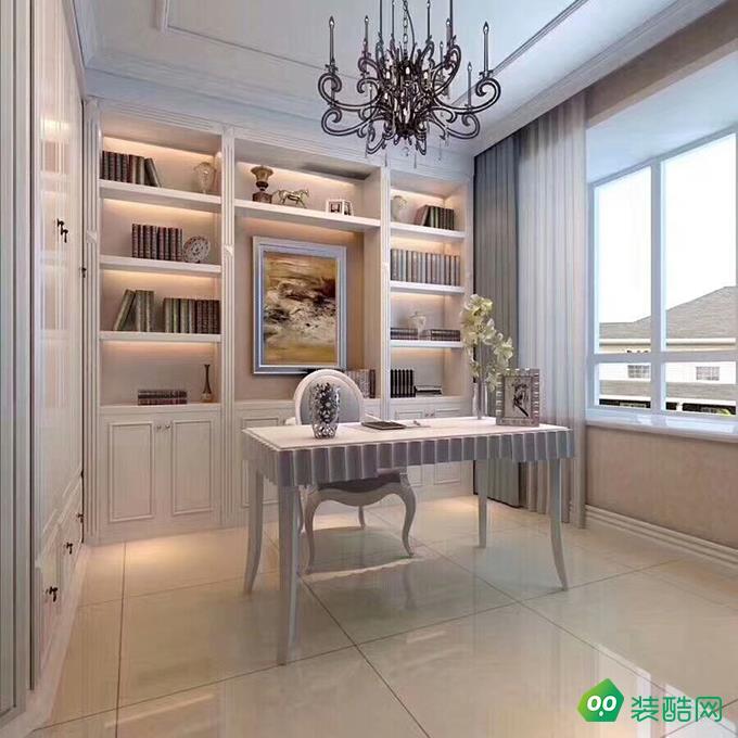 咸陽金碧輝煌裝飾-125平米歐式風格四室兩廳兩衛裝修效果圖