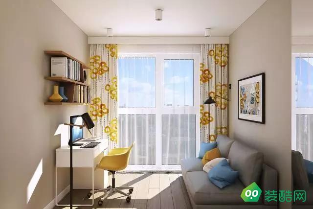 咸陽金碧輝煌裝飾-65平米北歐風格兩室一廳裝修效果圖