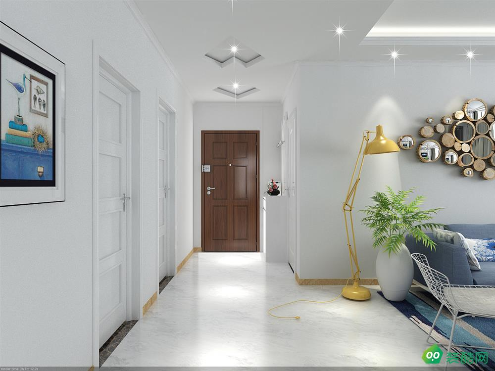 梦想改造家装饰-125平米现代风格三室两厅两卫装修效果图