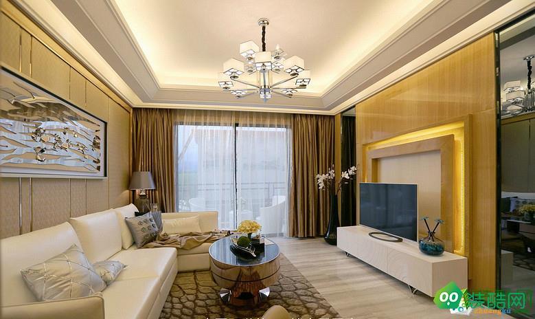 北京塞納春天裝飾-109平歐式裝修案例