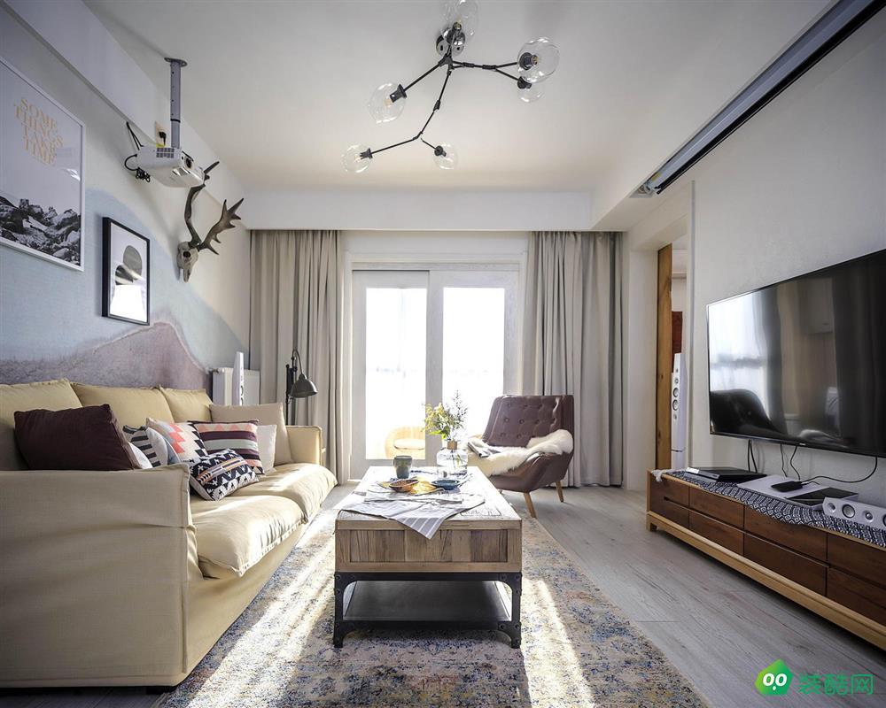 上海印堂精品-104平米北歐風格三室兩廳裝修案例圖片