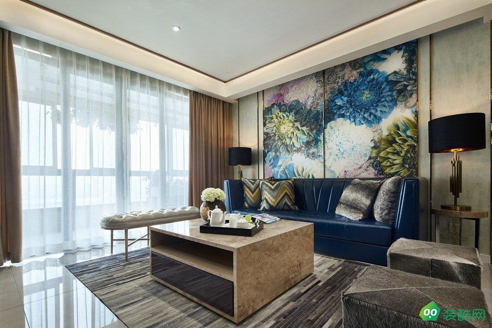 中式風格三居室131平裝修效果圖
