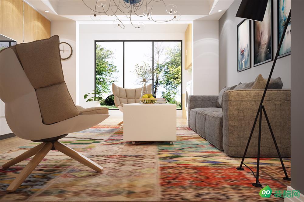 咸阳黄家美居装饰-97平米现代风格三室一厅装修效果图