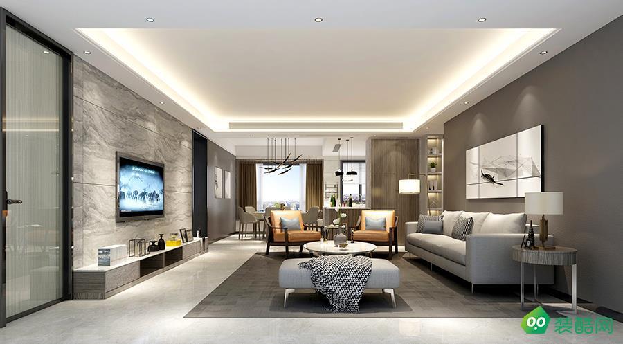 110㎡三室两厅现代简约风装修效果图