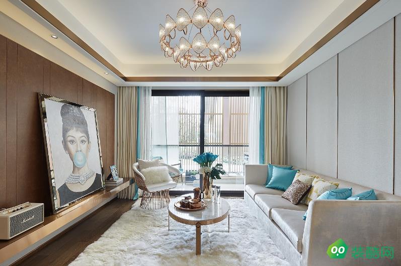 六安98平米三室现代简约风格装修效果图-嘉瑞装饰