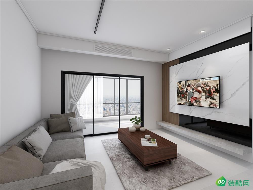 成都91平米现代风格三居室装修案例图片-聚相因装饰