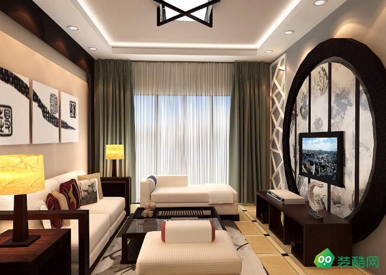 六安110平米三室中式風格裝修效果圖-嘉瑞裝飾