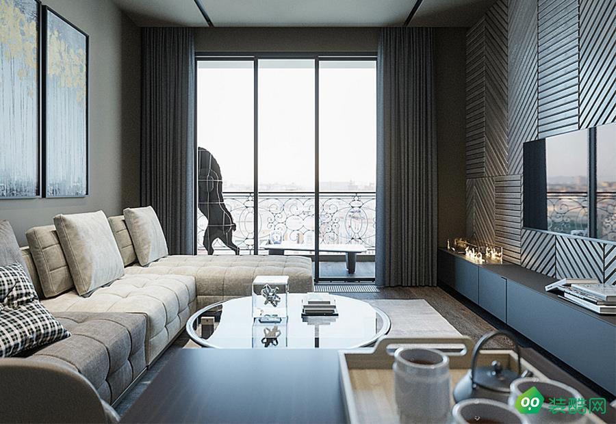成都95平米現代風格三室兩廳裝修效果圖片-聚相因裝飾