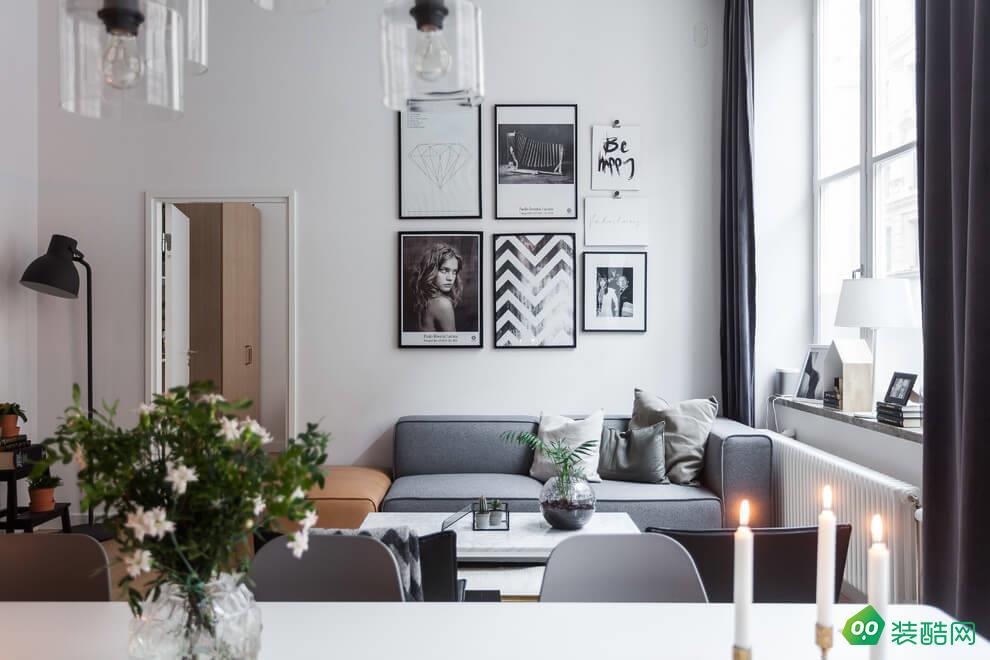北歐風格二居室83平裝修效果圖