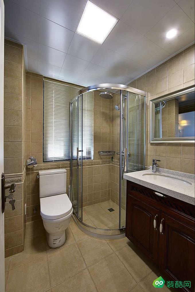 咸陽創新嘉藝裝飾-118平米美式風格三室兩廳裝修效果圖