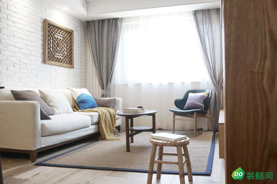 北京海天环艺装饰-95平现代三居室装修案例效果图