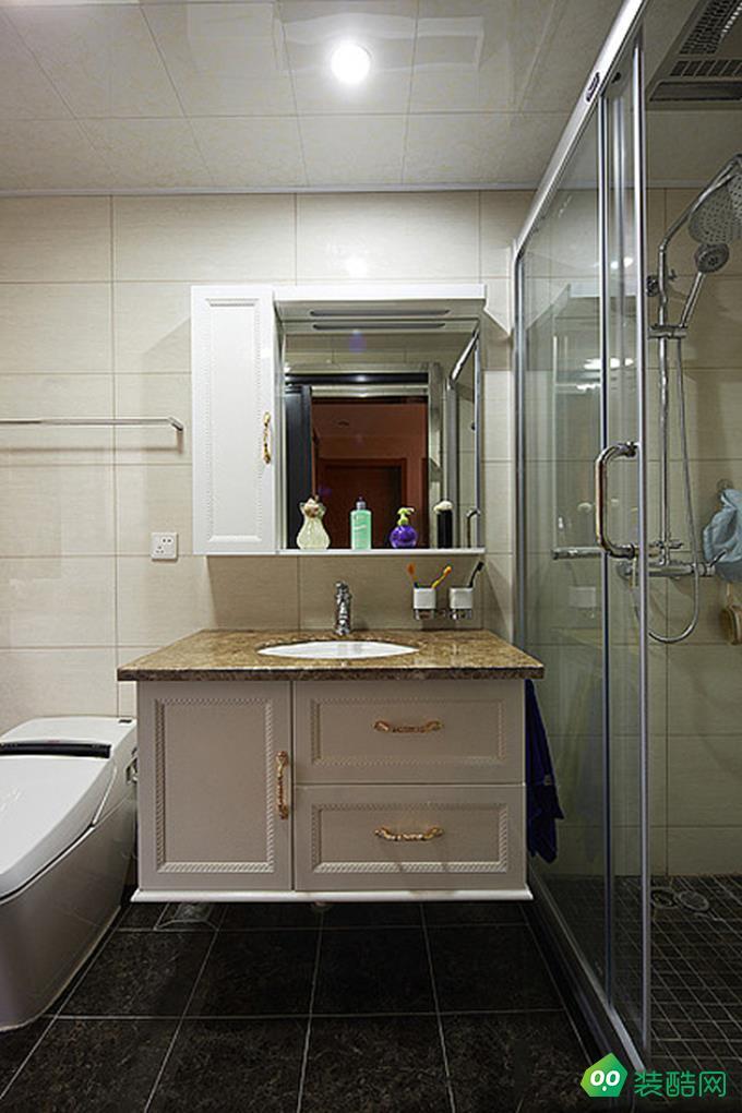 咸陽紫韻裝飾-124平米古典風格三室兩廳裝修效果圖