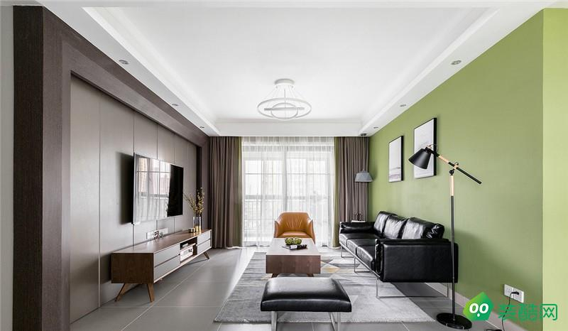 北京綠梧桐裝飾-102平現代簡約裝修案例效果圖