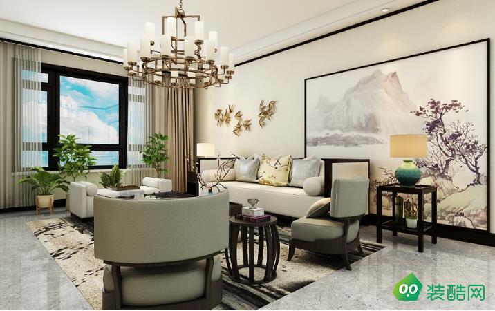紫御府139㎡三室兩廳中式風格裝修效果圖-斯為美裝飾