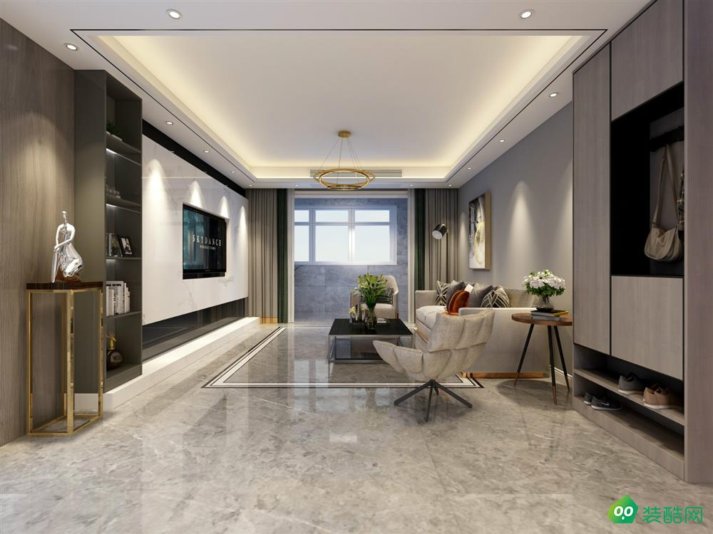 重慶127平米現代風格三居室裝修案例圖片-湛然裝飾