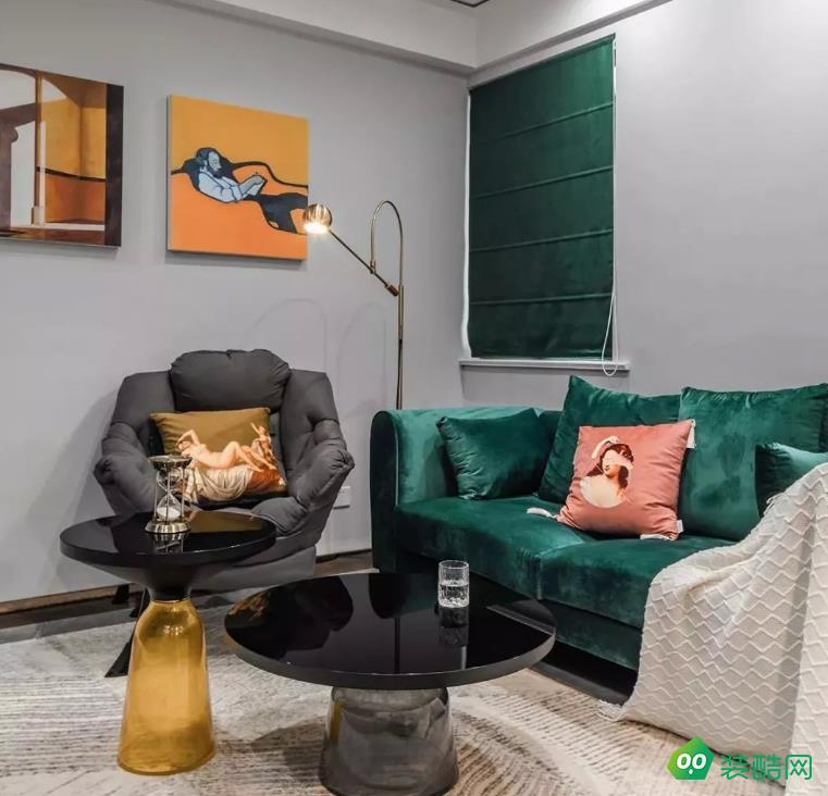 漳州-91平米現代輕奢風小戶型二居室