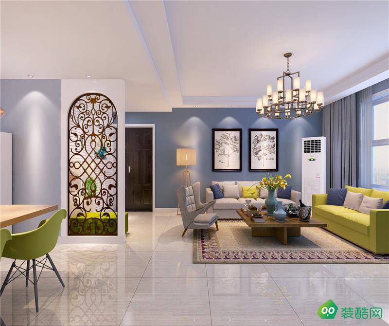 112㎡三居室简约美式装修案例