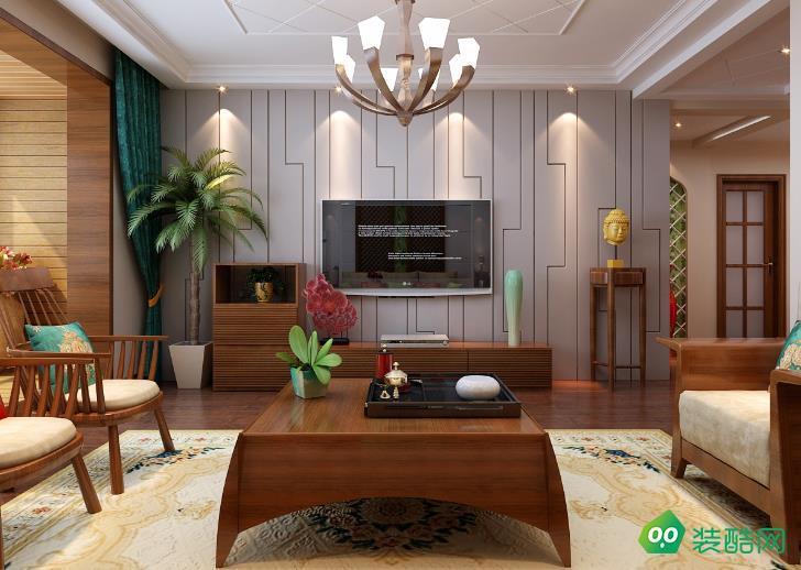 都匀132㎡三室东南亚风格装修效果图-点极装饰
