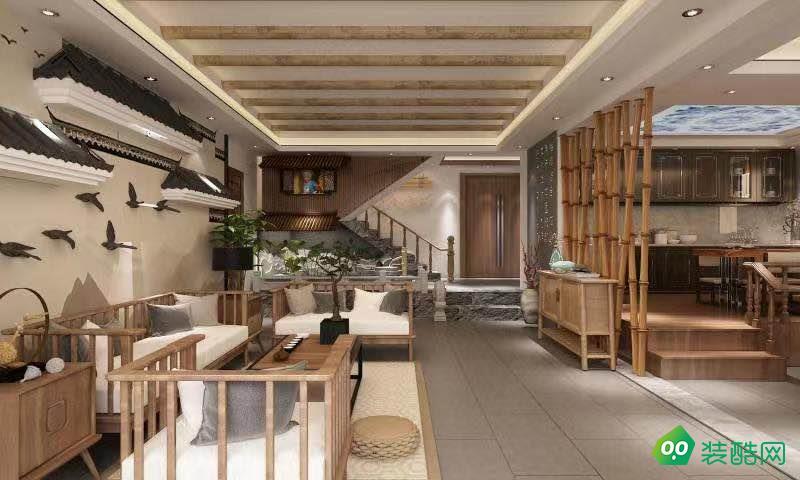 民宿220平新中式風格裝修案例
